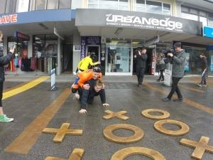 We ran into some real Kiwi celebrities, Jono and Ben, goofing around in Taupo.